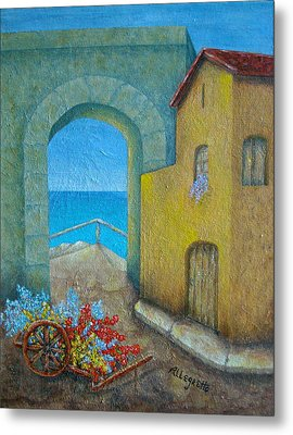 Pietrasanta In Tuscany Metal Print by Pamela Allegretto