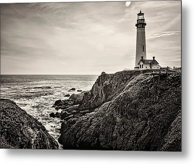 Pigeon Point Light Metal Print by Heather Applegate