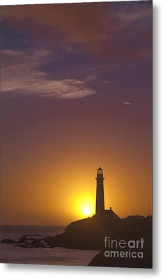 Pigeon Point Lighthouse 2 Metal Print by Theresa Ramos-DuVon