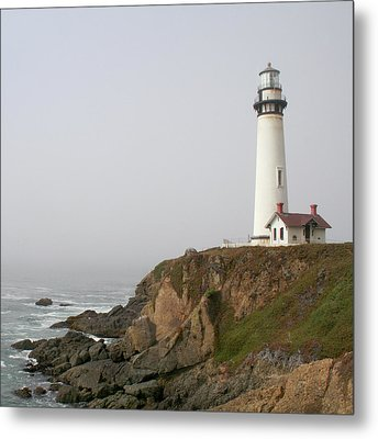 Pigeon Point Lighthouse Metal Print by Art Block Collections