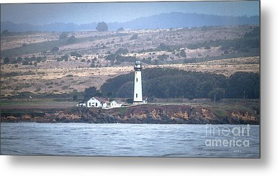 Pigeon Point Lighthouse Metal Print by Mitch Shindelbower