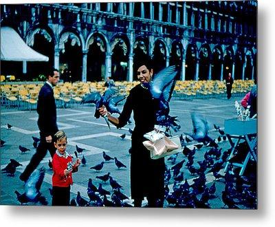 Pigeons 1961 Metal Print by Cumberland Warden