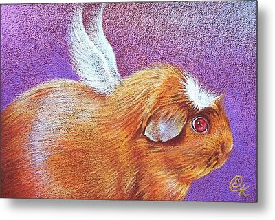 Piggie Angel Metal Print