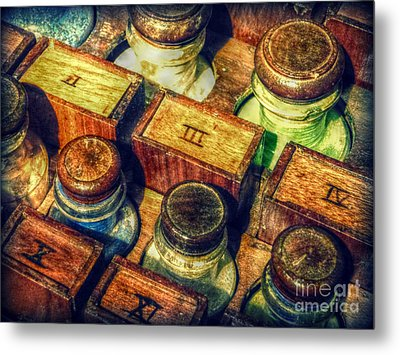 Metal Print featuring the digital art Pigments by Valerie Reeves