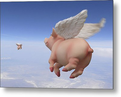 Pigs Fly 2 Metal Print by Mike McGlothlen