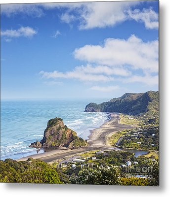 Piha And Lion Rock New Zealand Metal Print by Colin and Linda McKie