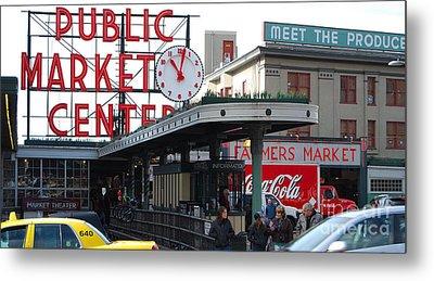 Pike Place Market Center Metal Print