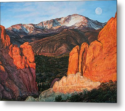 Metal Print featuring the painting Pikes Peak by Aaron Spong