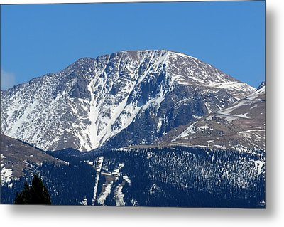 Pikes Peak Close-up Metal Print