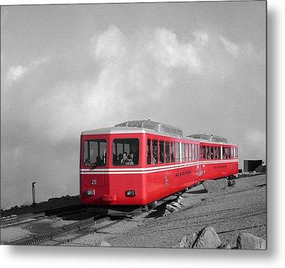 Pikes Peak Train Metal Print by Shane Bechler