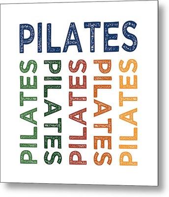 Pilates Cute Colorful Metal Print