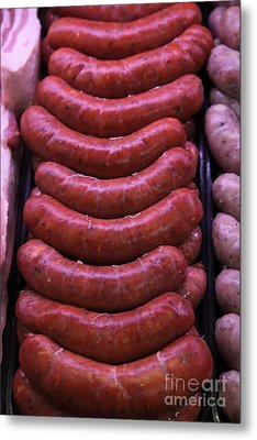 Pile Of Sausages - 5d20694 Metal Print by Wingsdomain Art and Photography