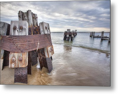 Pilings Metal Print by Eric Gendron