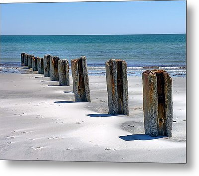 Metal Print featuring the photograph Pilings by Janice Drew