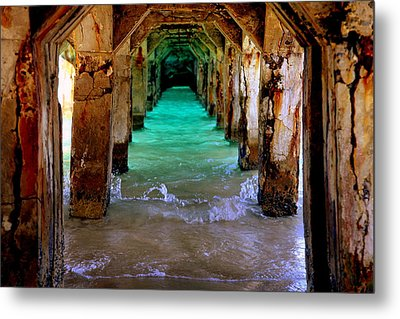 Pillars Of Time Metal Print by Karen Wiles