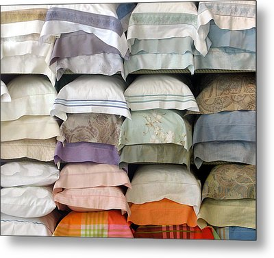 Pillows Metal Print