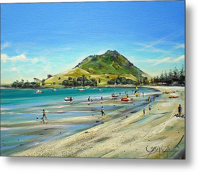 Metal Print featuring the painting Pilot Bay Mt M 050110 by Sylvia Kula