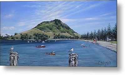 Metal Print featuring the painting Pilot Bay Mt M 291209 by Sylvia Kula