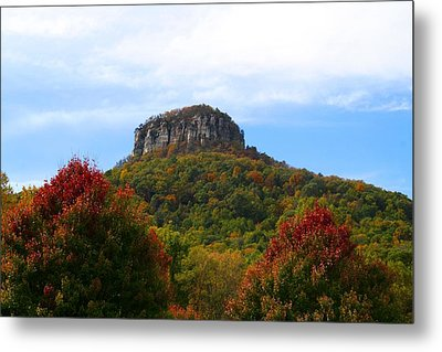 Pilot Mountain From 52 Metal Print by Kathryn Meyer
