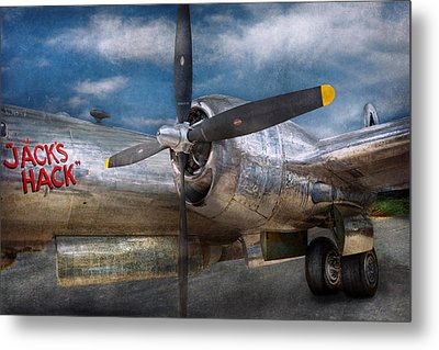 Pilot - Plane - The B-29 Superfortress Metal Print by Mike Savad