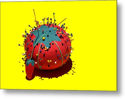 Pin Cushion Metal Print by Tom Mc Nemar