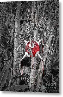 Pinata In Woods Metal Print by Joan  Minchak