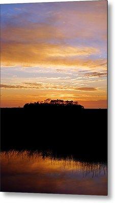 Pine Island Sunset Metal Print by Daniel Woodrum
