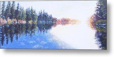Pine Lake Reflection Metal Print by Charles Smith