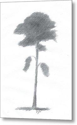 Pine Tree Drawing Number Five Metal Print by Alan Daysh