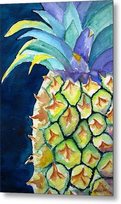Pineapple Metal Print by Carlin Blahnik