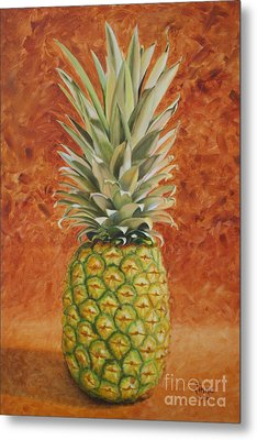 Metal Print featuring the painting Pineapple  by Jimmie Bartlett