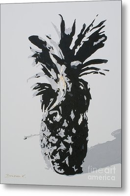 Pineapple Metal Print by Katharina Filus