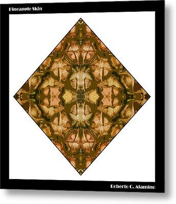 Pineapple Skin Metal Print by Roberto Alamino