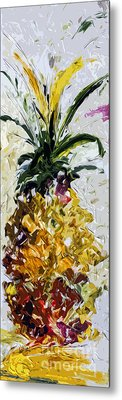 Pineapple Triptych Part 2 Metal Print by Ginette Callaway