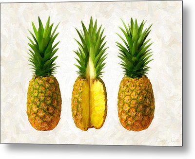 Pineapples Metal Print by Danny Smythe