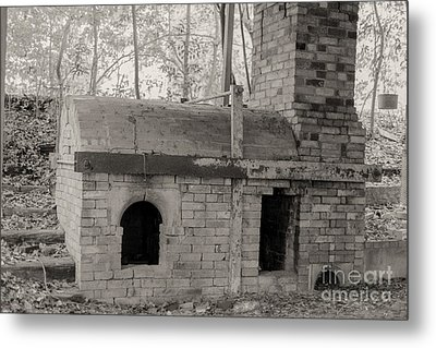 Pinewood Pottery Kiln Metal Print by Russell Christie
