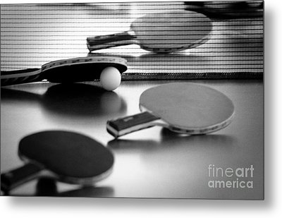 Metal Print featuring the pyrography Ping-pong by Evgeniy Lankin