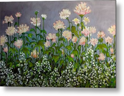 Pink And White Flowers Metal Print by Irena Mohr