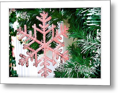 Pink Metal Print by Audreen Gieger
