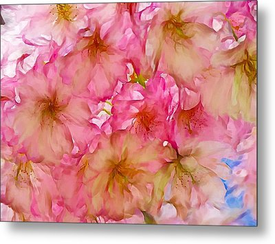 Metal Print featuring the digital art Pink Blossom by Lilia D
