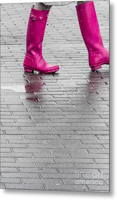 Pink Boots 2 Metal Print by Susan Cole Kelly Impressions
