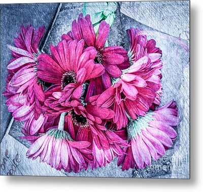 Pink Bouquet Metal Print by Susan Cole Kelly Impressions