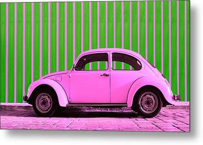 Pink Bug Metal Print by Laura Fasulo