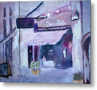 Pink Cafe II Metal Print