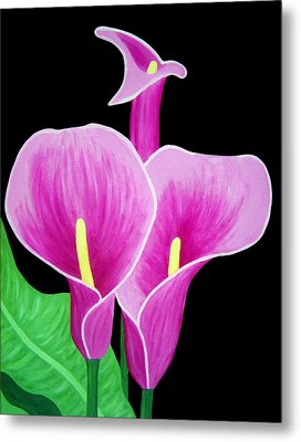 Pink Calla Lillies 2 Metal Print by Angelina Vick