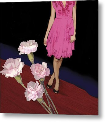 Pink Carnations, 2008 Metal Print by Marjorie Weiss