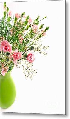 Pink Carnation Flowers Metal Print