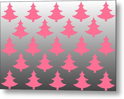 Pink Christmas Metal Print by Chastity Hoff