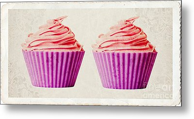 Pink Cupcakes Metal Print by Edward Fielding