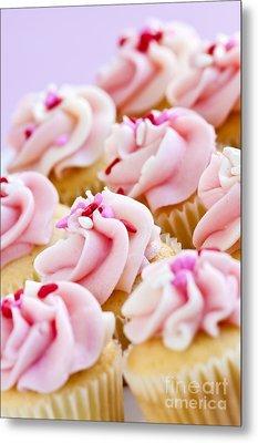 Pink Cupcakes Metal Print by Elena Elisseeva